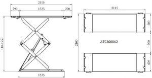 Atsc3000x2 dimensions alexyne sarl for Garage pneu bourgoin jallieu