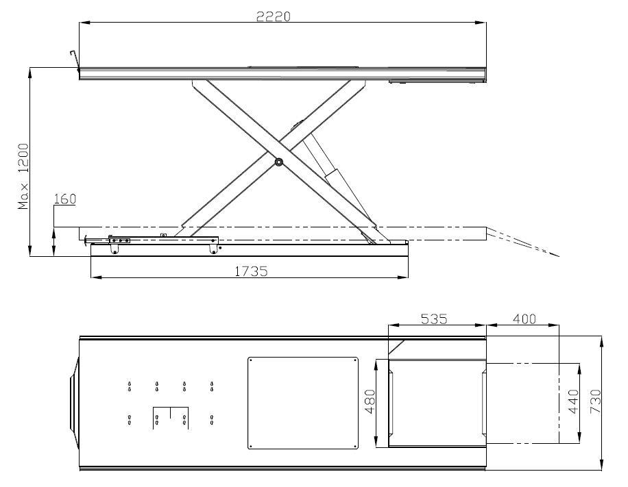 dimensions XT100E