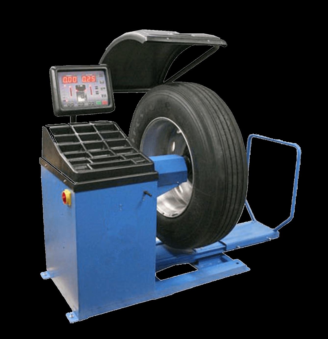 Equilibreuse de roue de poids lourds