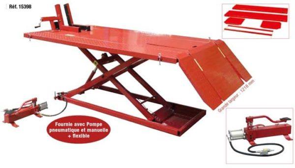 table élévatrice motoquad  15398  alexyne sarl