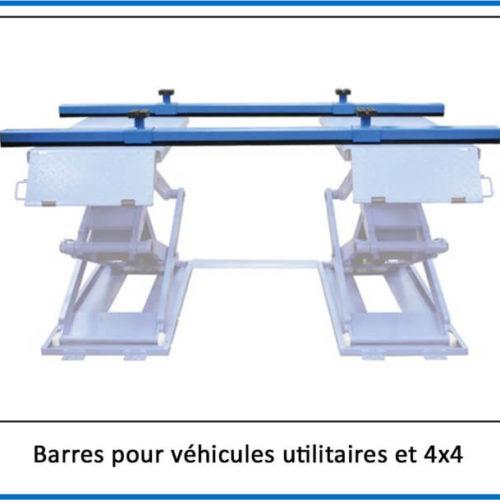 barres porteuse pour ponts ciseaux