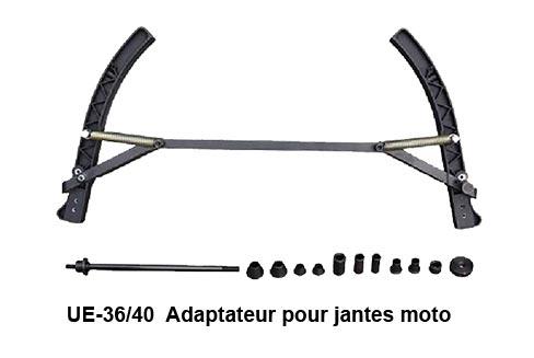 L'adaptateur de jantes de moto pour équilibreuses de pneus permet le montage et l'équilibrage de roues de moto